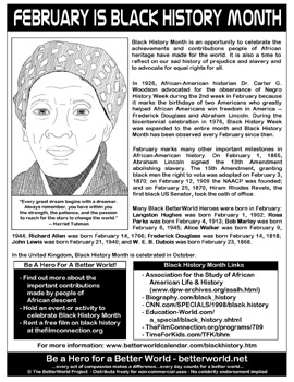 black history coloring pages pdf - february black history month handouts