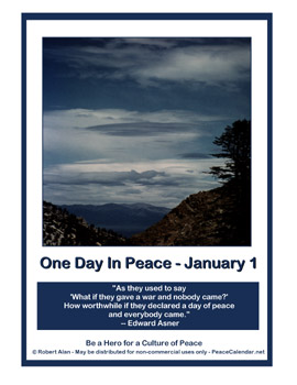 One Day In Peace, January 1