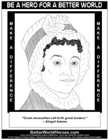abigail adams coloring pages - photo#9
