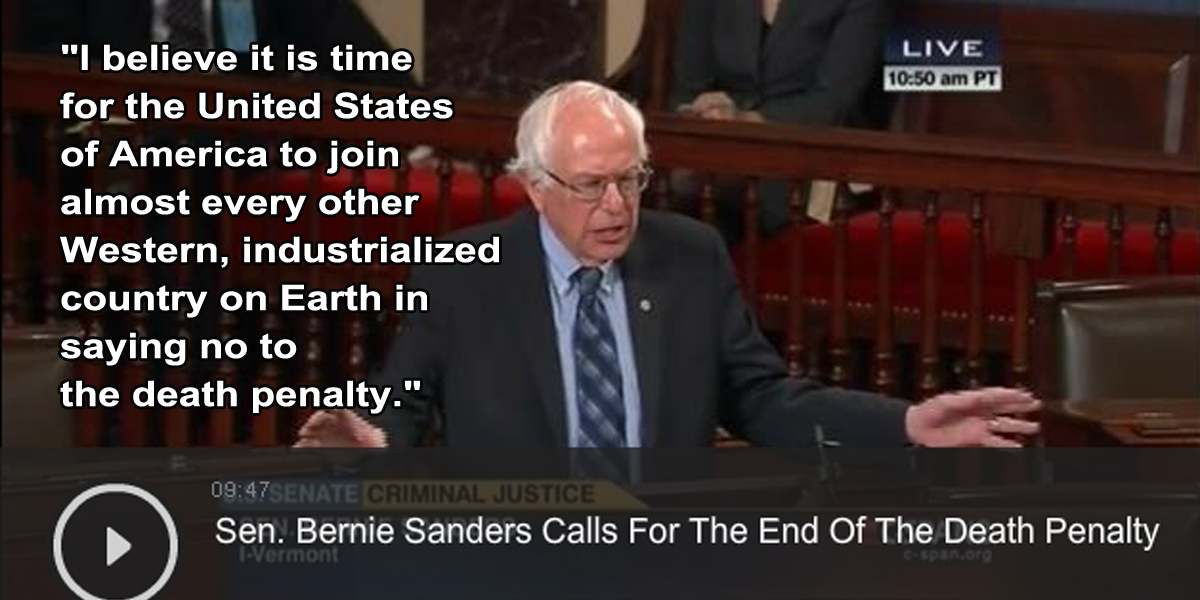 Quotes About The Death Penalty Prepossessing Better World Quotes  Bernie Sanders On The Death Penalty