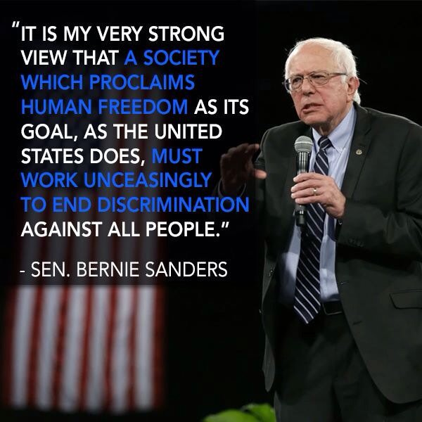Discrimination Quotes Magnificent Better World Quotes  Bernie Sanders On Discrimination
