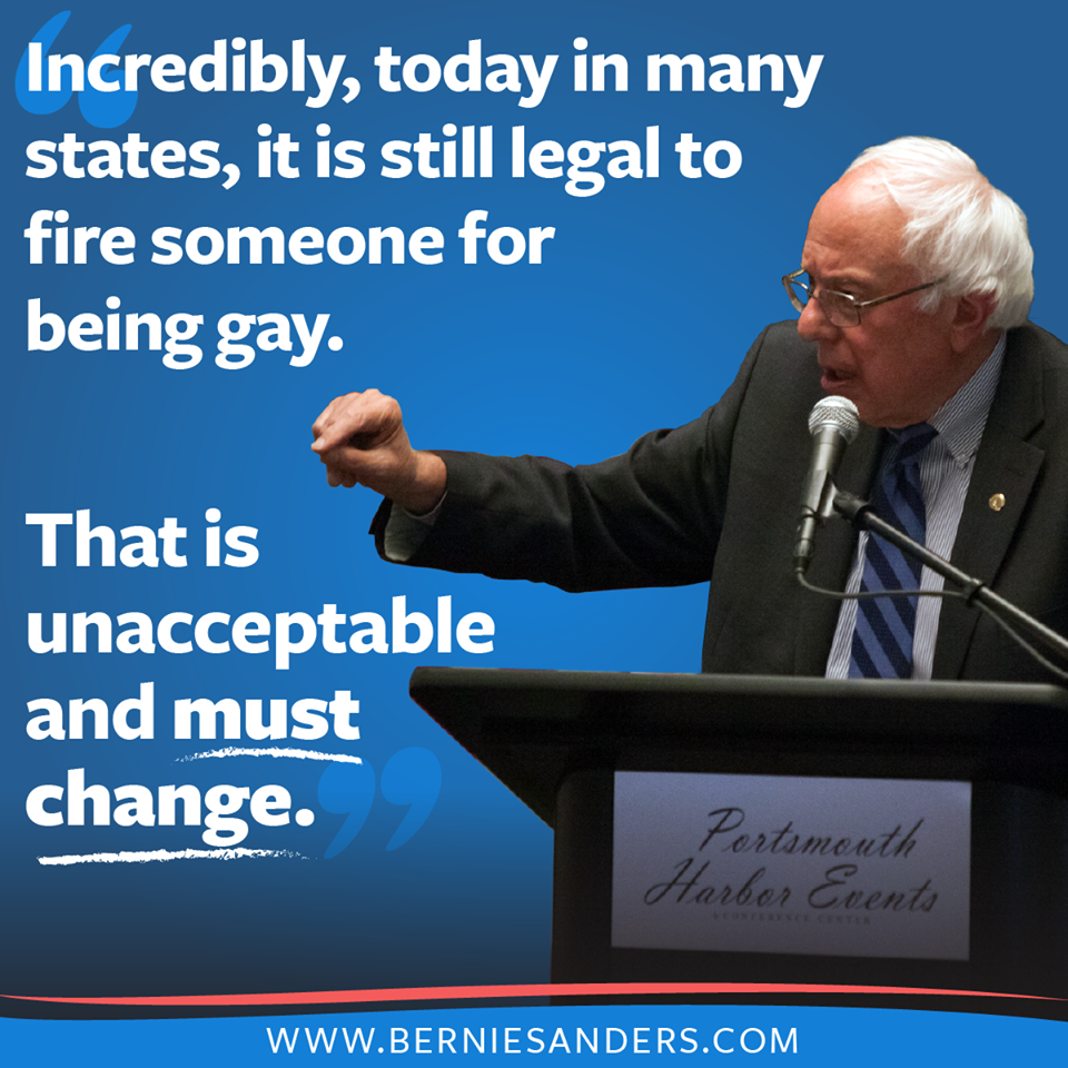 Bernie Sanders Quotes Better World Quotes  Bernie Sanders On Gay Rights
