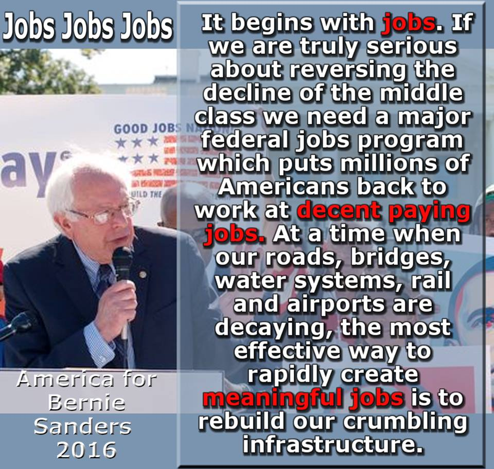 better world quotes bernie sanders on job creation