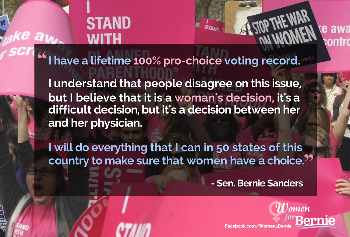 The Choice Quotes Better World Quotes  Bernie Sanders On Women's Rights