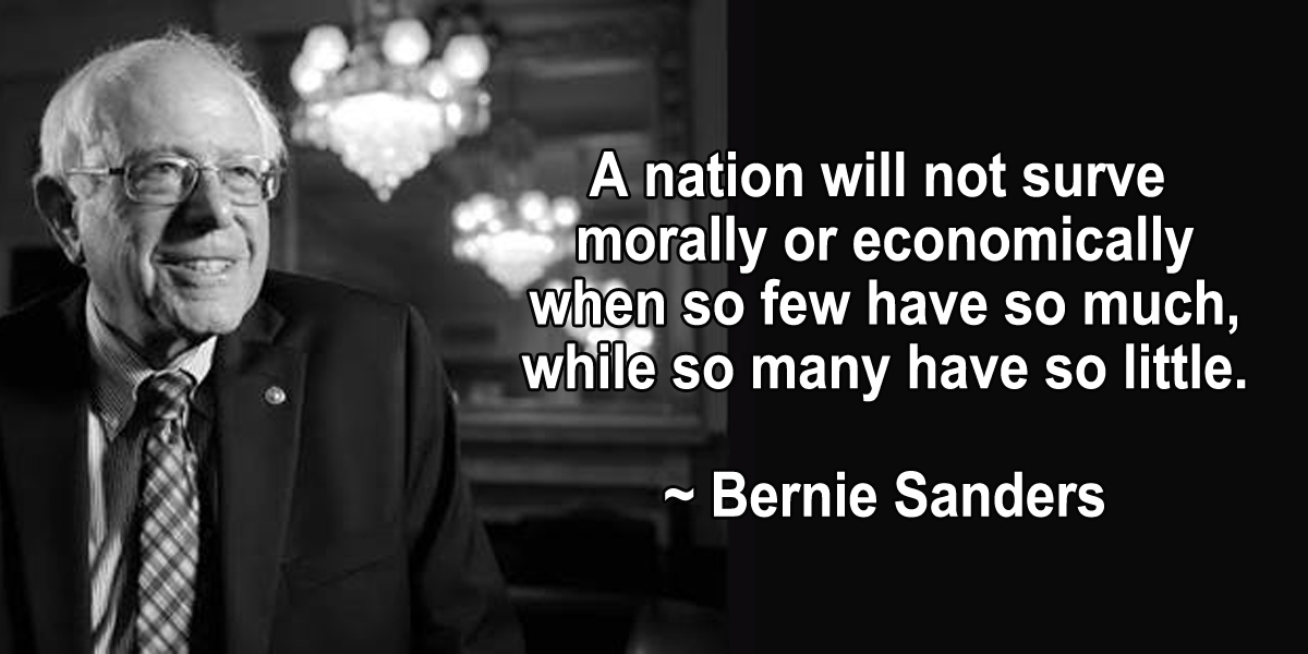 Bernie Sanders On Economic Inequality