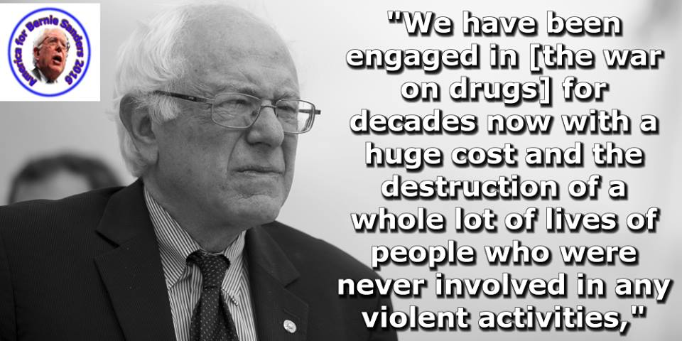 Better World Quotes Bernie Sanders On The War On Drugs Fascinating Quotes About Drugs