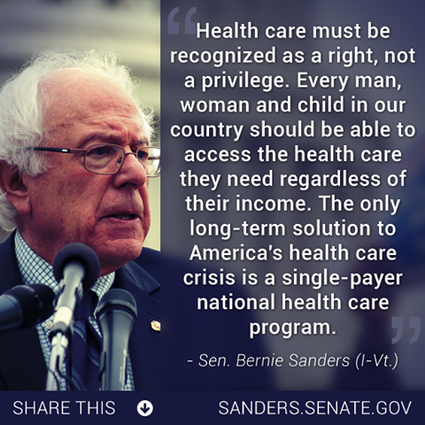 Better World Quotes Bernie Sanders on Healthcare Classy Healthcare Quotes