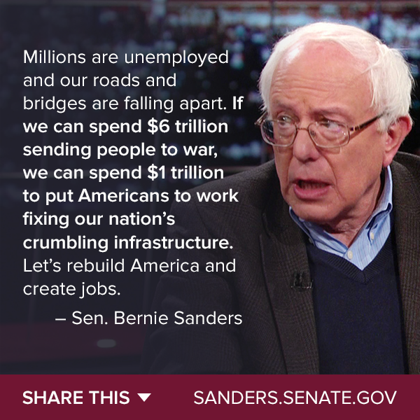 Bernie Sanders Quotes Captivating Better World Quotes  Bernie Sanders On Infrastructure