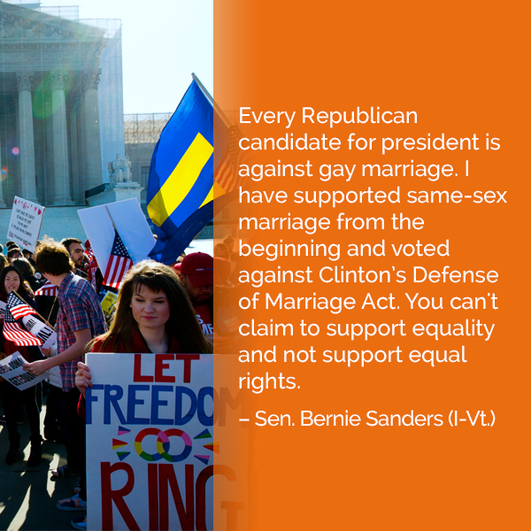 Better World Quotes Bernie Sanders On Gay Rights