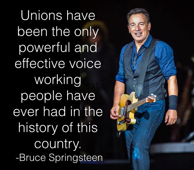 Bruce Springsteen über die Bedeutung der Gewerkschaften in den USA